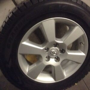 Toyota/Lexus mags with tpms& Dunlop winter tires 225/65/17