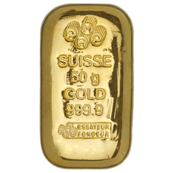 Pamp Suisse 50 Gram Gold Cast Bar