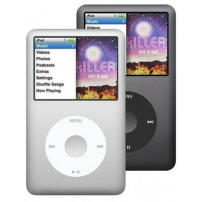 Apple iPod Classic 7th Generation Black or Silver 120GB or 160GB *Used*