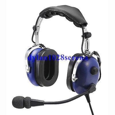 Blue Headset PNR (Passive Noise Reduction) Aviation Headset IN-1000