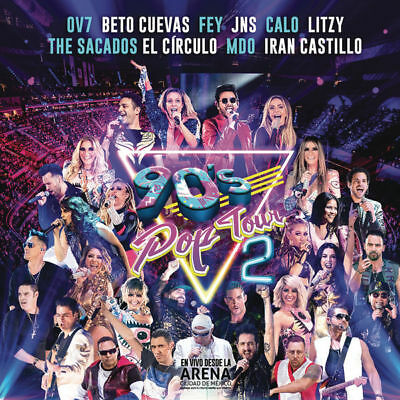 90S Pop Tour Vol 2   Ojo 2 Cd Dvd Fey Ov7 Jeans Aleks Syntek Litzy Calo    New