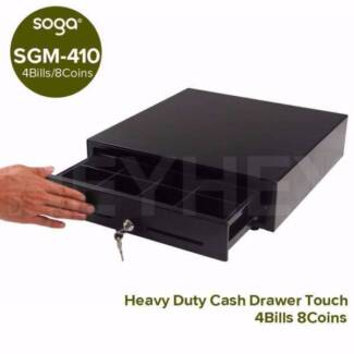 Manual Duty 410 Series Heavy Duty Blk Cash Drawer 4 Bills 8 Coins