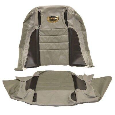 Triton Boat Seat Skins 1950172 | Explorer 2009  Grey/ Black w/ Gold Logo