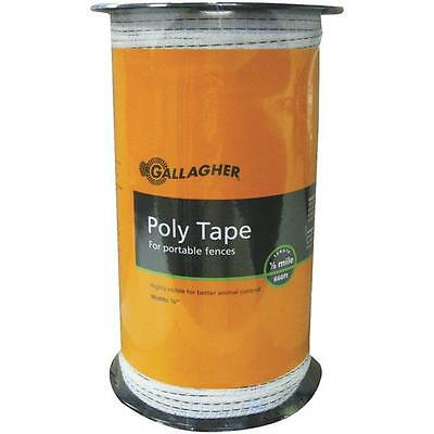 Gallagher White 12 X 656 Electric Fence 5 Steel Strand Poly Tape G62304