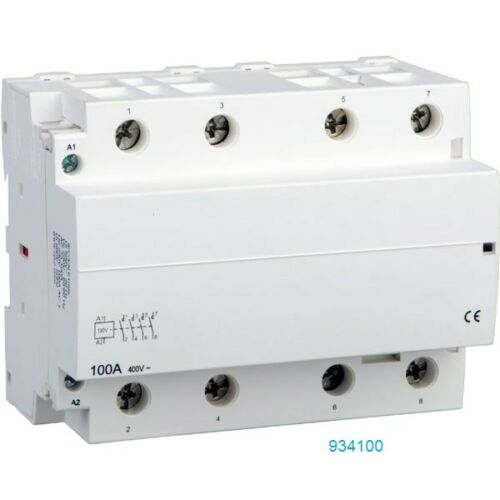 80 Amp Contactor Normally Open NO 100A, 3 Pole 120V 110v Coil Lighting 4 pole AC