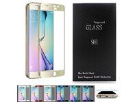 Samsung Galaxy S6 Edge Glass screen protector GOLD