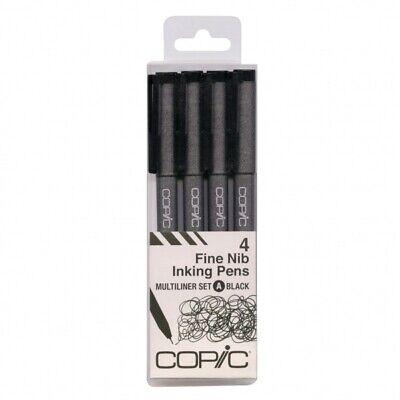 nking Pens Multiliner set A / Black / 4 size set  (Inking Pens)
