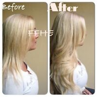 HAIR EXTENSIONS!!! HOT FUSION TAPE IN MICROLINK!!!