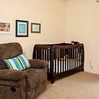 Modern crib with mattress $100!
