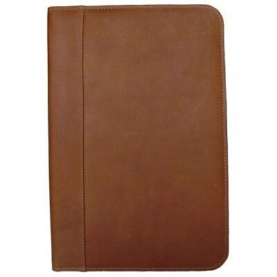 Piel Leather Legal Size Portfolio Note Pad Holder Organizer - Saddle