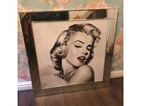 Large mirror framed Marilyn Monroe picture