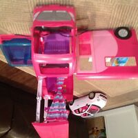 Barbie camper and car
