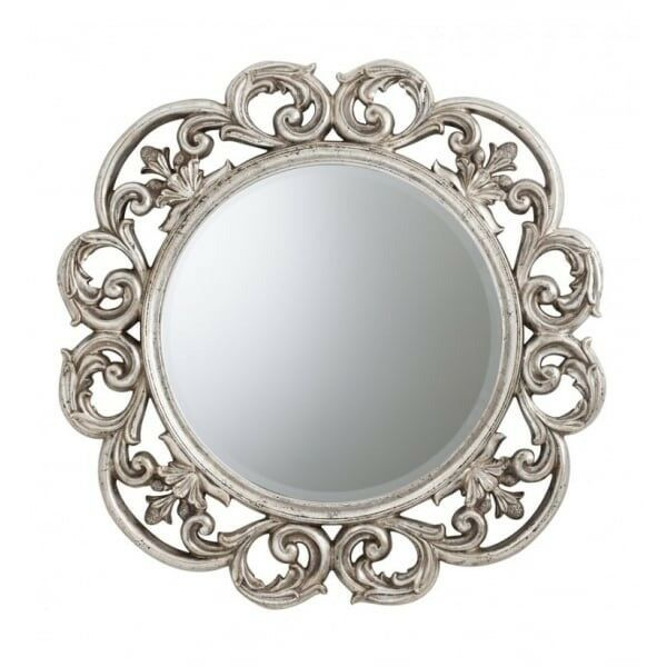 1 x Chartwell Mirror Silver Leaf by Gallery Direct