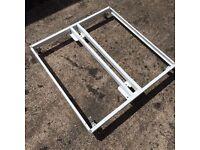 Steel dolly wheeled base 95 X 95cm