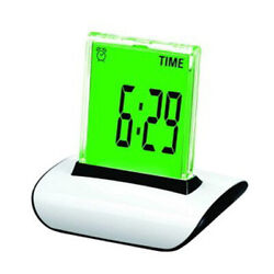 7 Colors LED Digital Alarm Clock Changing Thermometer LCD Desk Bed Light