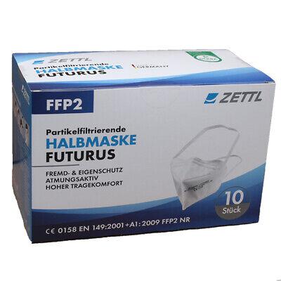 Zettl Futurus FFP2 Maske mit Kopfgummi und Draht in Deutschland hergestellt