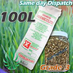 GRADE 3 HYDROPONICS VERMICULITE 100L PACK GROWING MEDIA MEDIUM FOR SOILESS GROW