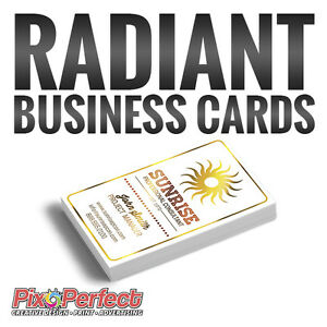 ★Radiant Business Card Printing with Spot UV ✈FREE DELIVERY