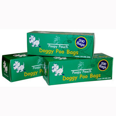 Doggie Pot Litter Bag Refills. 10 boxes of 200. 2,000 bags! - Case of 2000