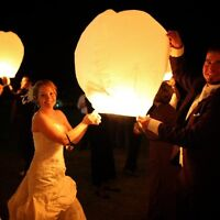 White Biodegradable Paper Sky Lanterns