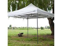 All seasons pop-up Gazebo, 3x3m heavy duty, white, fully waterproof