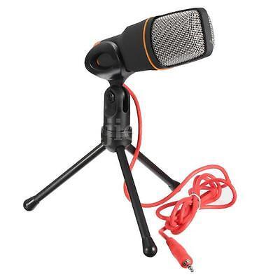 Mini Mikrofon Microfon Microphone Studio+Desktop Ständer+USB Kabel Für PC Laptop