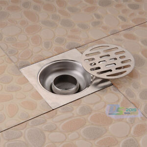 shower drain cover stainless steel square waste deodorizing floor drain cover 10696