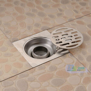steel square waste deodorizing floor drain cover kitchen bathroom new