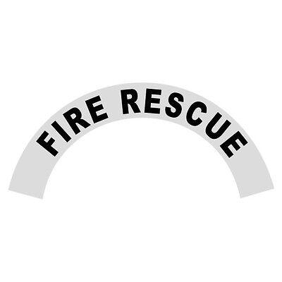 Fire Rescue Black Helmet Crescent Reflective Decal Sticker