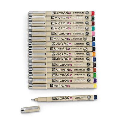 Sakura Pigma Micron Pigment Ink 05 FULL COLOURS RANGE Fineliner Pen Fine liner ()