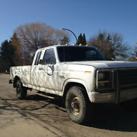 1984 Ford F-250 Diesel 4x4, plate as antique for $12/month