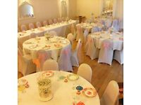 Chair covers sashes centrepieces backdrops candy carts postboxes from £1