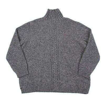 Papas Wool Hy-necked Knit Size LL(K-43075)