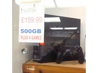 Ps4 500gb x3 games with warranty