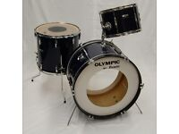 1977 Premier Olympic 3 Piece Drum Kit Shell Pack in Royal Blue 13,16 & 22″