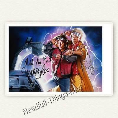 Zurück in die Zukunft mit Michael J. Fox & Christopher Lloyd  Autogramm [A1] 