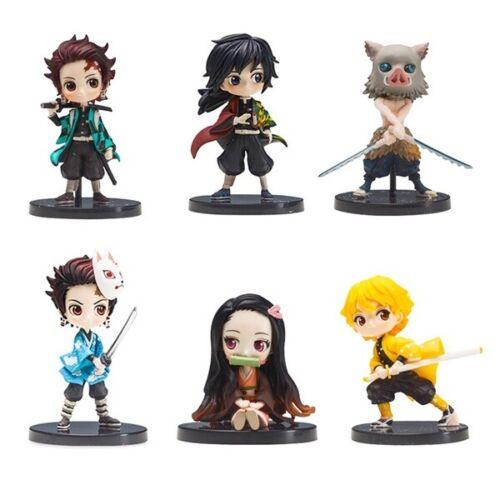 Demon Slayer: Kimetsu no Yaiba Anime Action Figure Doll Gift Kids Toy 6 PCS