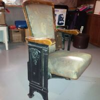 old theater chair