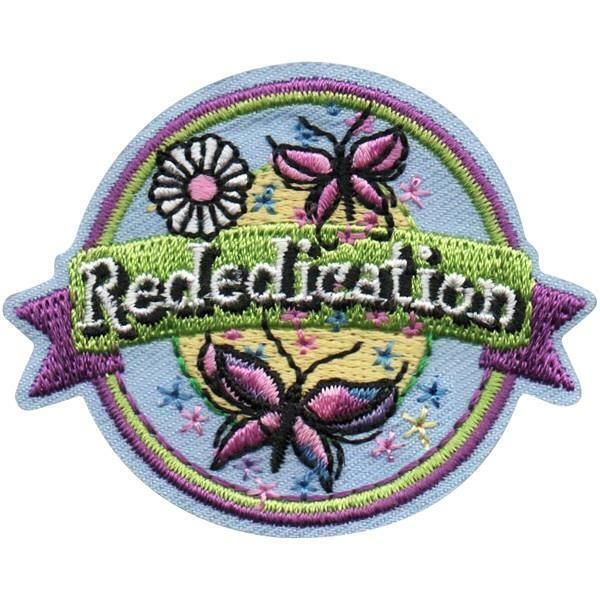 Girl REDEDICATION Butterflie Ceremony Fun Patches Crest Badge SCOUTS GUIDE night