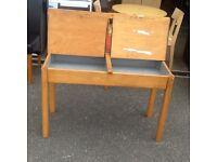 Old pine double school desk
