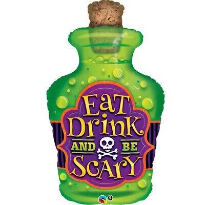 Halloween Essen Trinken & Sein Gruselig Potion Flasche Qualatex 96.5cm Form