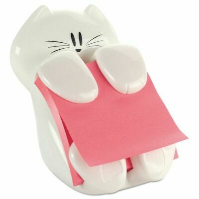 Post-it Cat Figure Pop-up Note Dispenser 3x3 Inch White Kitty Sticky Pad Holder