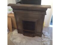 Winther Browne F771 polished cast iron fire place