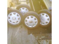 4 x VW Polo wheels with Exc tyres bargain