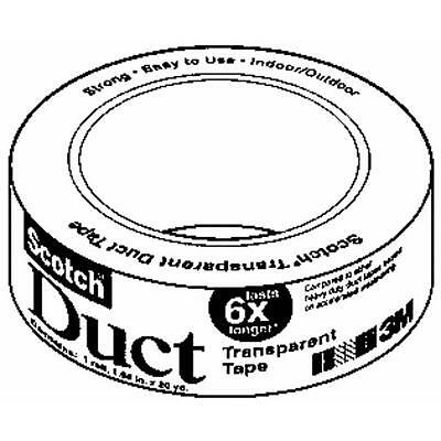 6 Pk 3m 1 12 X 4 Yd Scotch Clear Transparent Duct Duck Tape 2105-cd