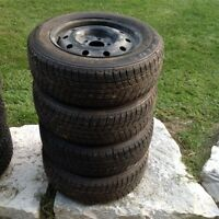 195/65R15 used winter tires on rims