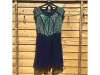 Navy blue sequin dress from River Island size 6-8