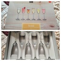 Champagne flutes used once
