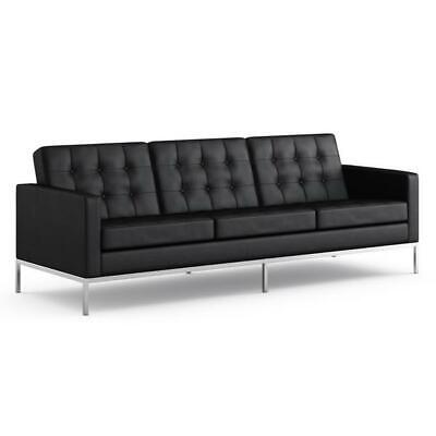 1 PC Modern button Loft Florence knoll Style Leather Sofa #1255 In black/White Florence Style Sofa