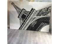 Large Eiffel Tower canvas